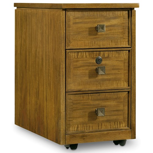 Hooker Furniture Retropolitan Mobile File with Locking File Drawer