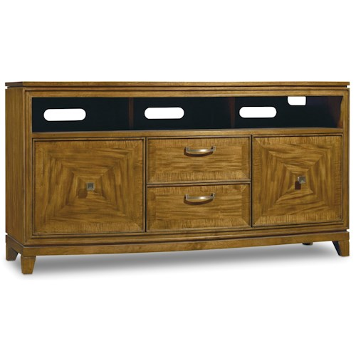 Hooker Furniture Retropolitan Entertainment Console with Sound Bar Shelf