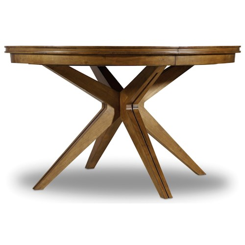 Hooker Furniture Retropolitan Round Dining Table with Leaf