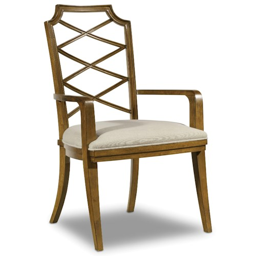 Hooker Furniture Retropolitan Wood Back Arm Chair with Unique Design