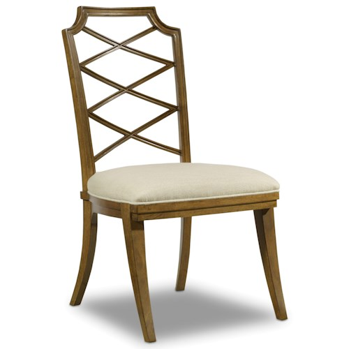 Hooker Furniture Retropolitan Wood Back Side Chair with Unique Design