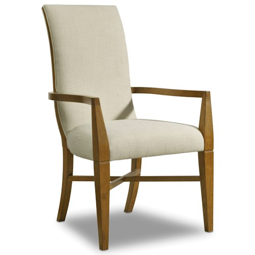 Hooker Furniture Retropolitan Upholstered Arm Chair with Curved Back
