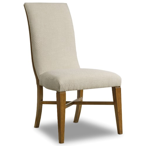 Hooker Furniture Retropolitan Upholstered Side Chair with Curved Back