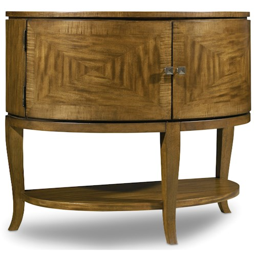 Hooker Furniture Retropolitan Demilune Nightstand with Power Bar