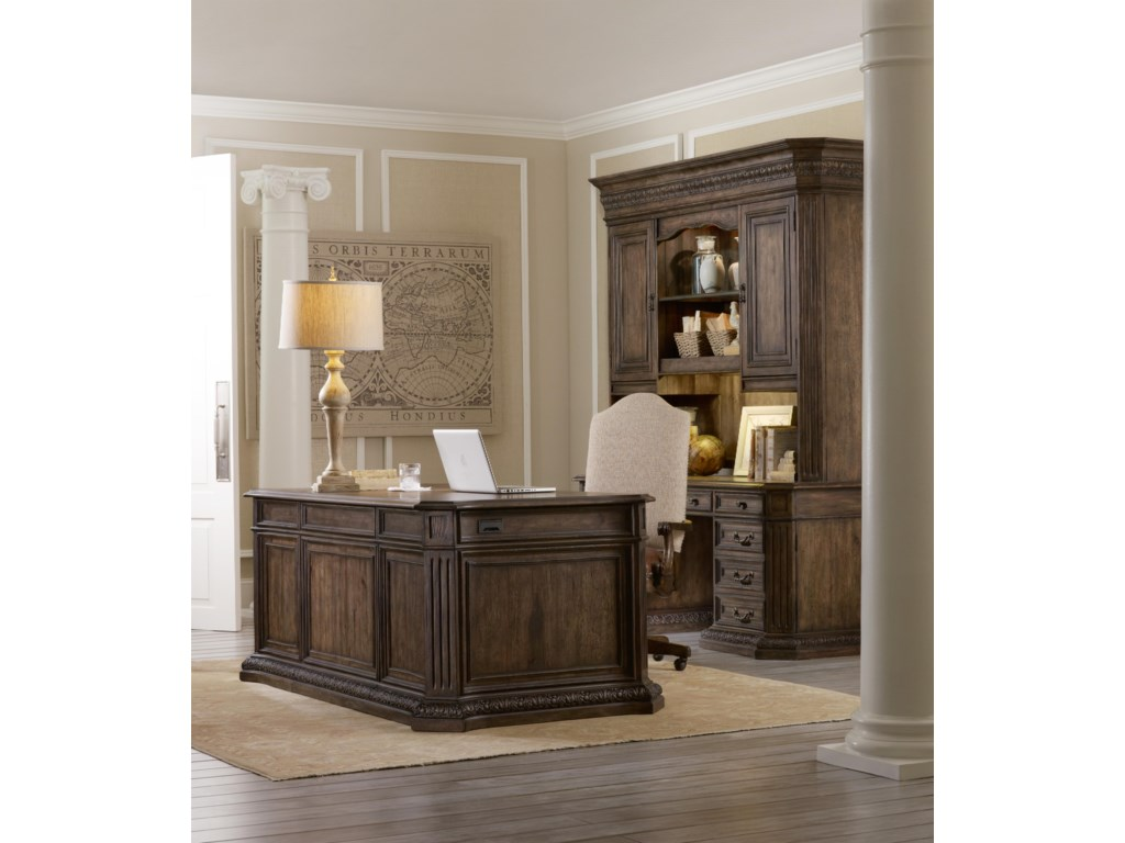 Shown with Computer Credenza, Hutch and Executive Desk