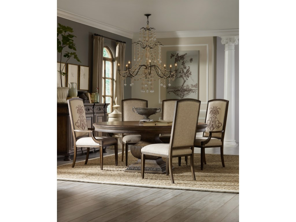 Shown with Side Chair, Round Dining Table and 72-Inch Credenza