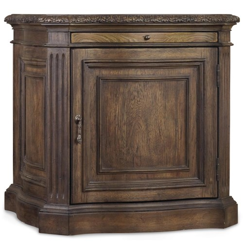 Hooker Furniture Rhapsody Storage Cabinet Side Table with Pullout Shelf