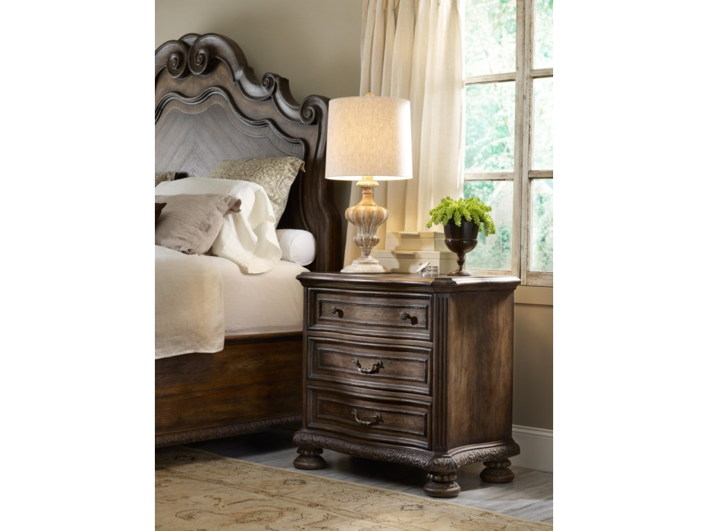 Shown with Three Drawer Nightstand