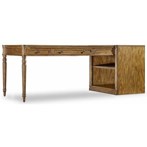 Hooker Furniture Saint Armand Peninsula Desk with Dovetail Drawers
