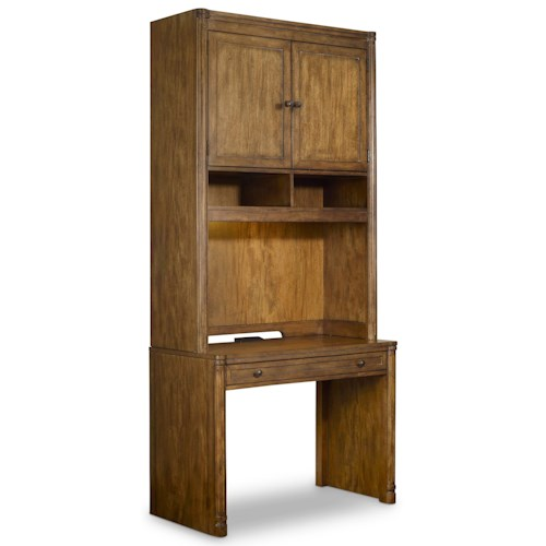 Hooker Furniture Saint Armand Desk and Hutch with Adjustable Shelves