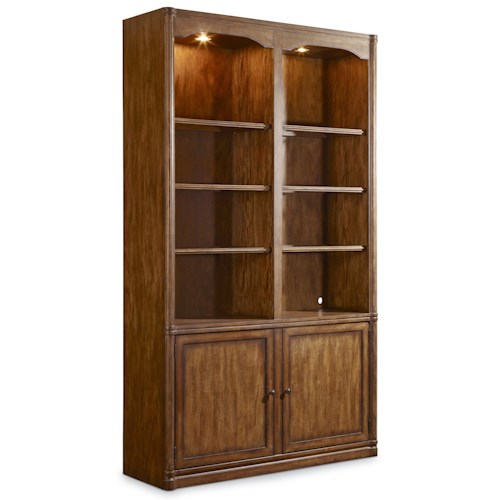 Hooker Furniture Saint Armand Wall Bookcase with Touch Lighting