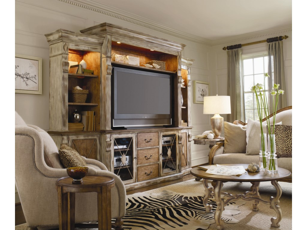 Shown in Room Setting with Wall Unit