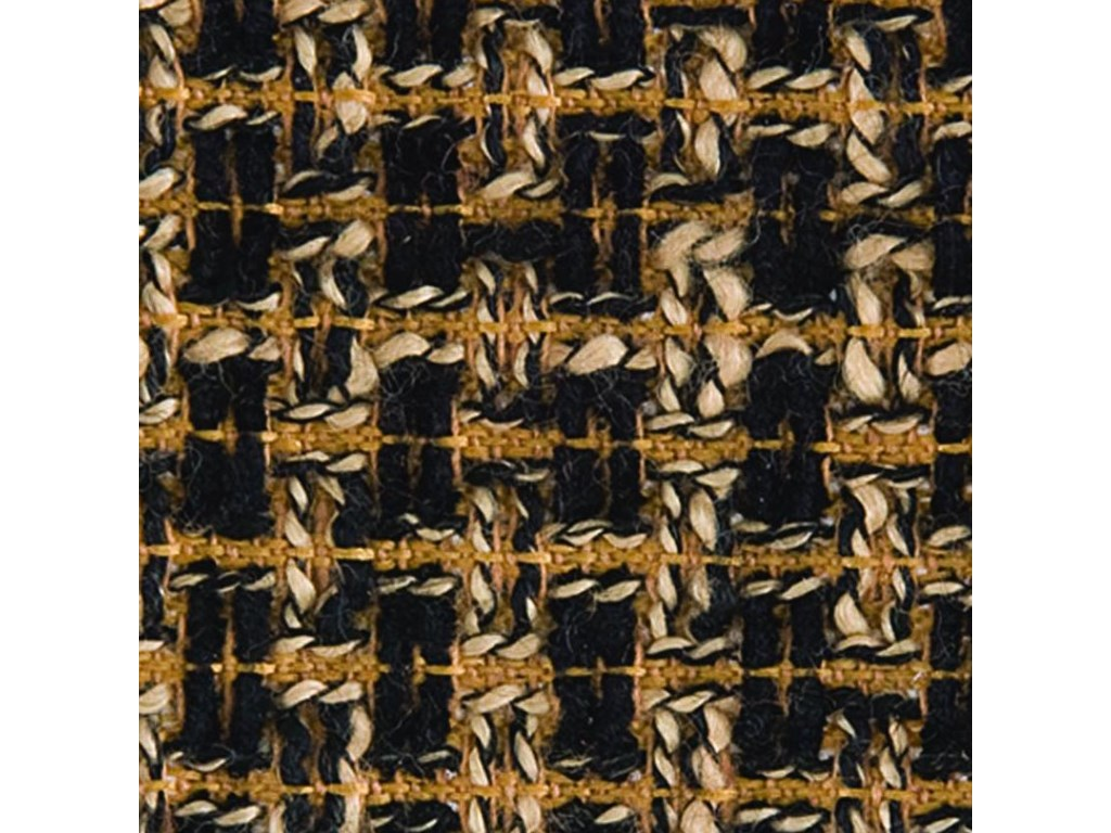 Gold Black Tweed Fabric