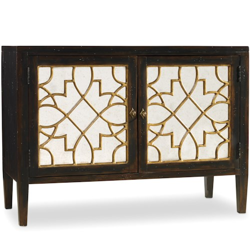 Hooker Furniture Sanctuary 2 Door Mirrored Console with Ebony Finish