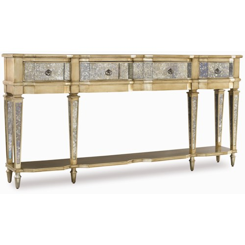 Hooker Furniture Sanctuary Three Drawer Thin Console Table