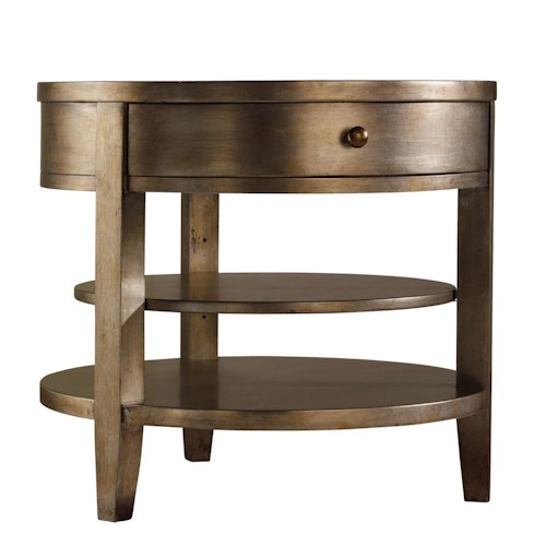 Hooker Furniture Sanctuary One-Drawer Round Lamp Table