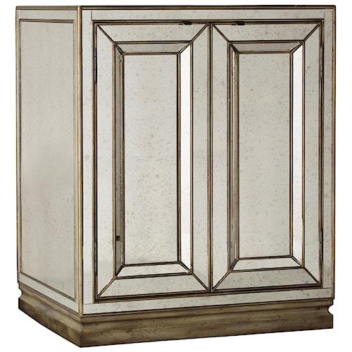 Hooker Furniture Sanctuary Two-Door Mirrored Nightstand