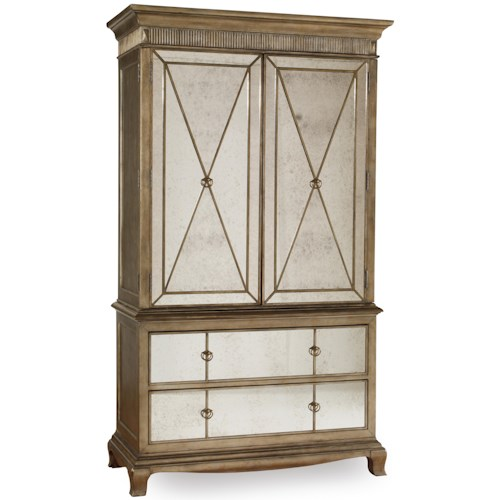 Hooker Furniture Sanctuary Two-Door Two-Drawer Armoire with Mirror Front