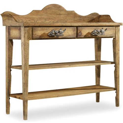 Hooker Furniture Sanctuary Thin Console with Bird Hardware Design