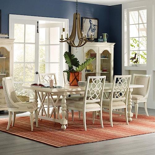 Hooker Furniture Sandcastle 7 Piece Coastal Dining Set