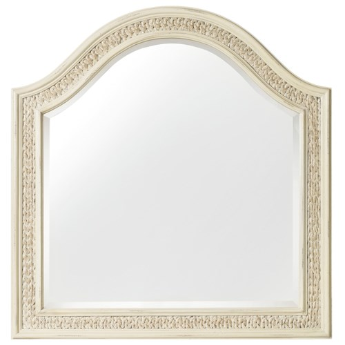 Hooker Furniture Sandcastle Arched Mirror with Woven Sea Grass