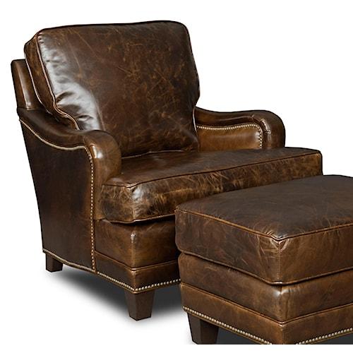 Hooker Furniture Club Chairs Traditional Club Chair with Nailhead Trim