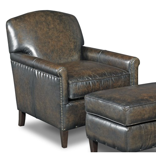 Hooker Furniture Club Chairs Transitional Club Chair with Nailheads