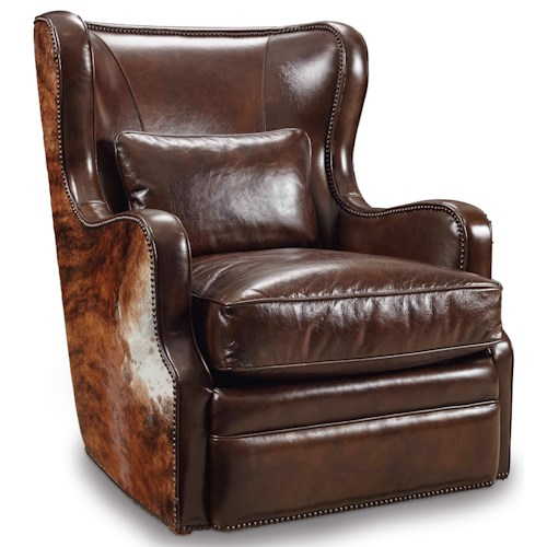 Hooker Furniture Club Chairs Traditional Swivel Club Chair