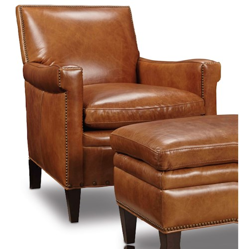 Hooker Furniture Club Chairs Traditional Club Chair with Nailhead Trim