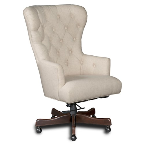 Hooker Furniture Executive Seating Larkin Oat Home Office Chair with Tufted Back