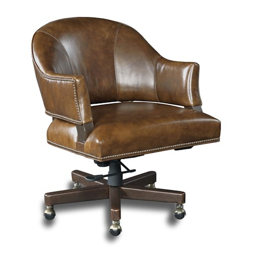 Hooker Furniture Executive Seating Traditional Swivel Desk Chair with Open Back Design