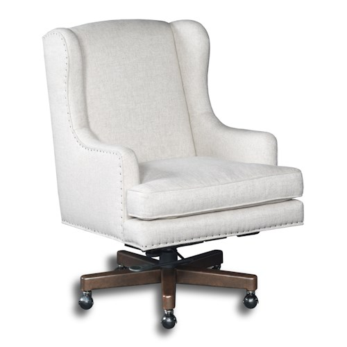 Hooker Furniture Executive Seating Wing Back Swivel Executive Chair
