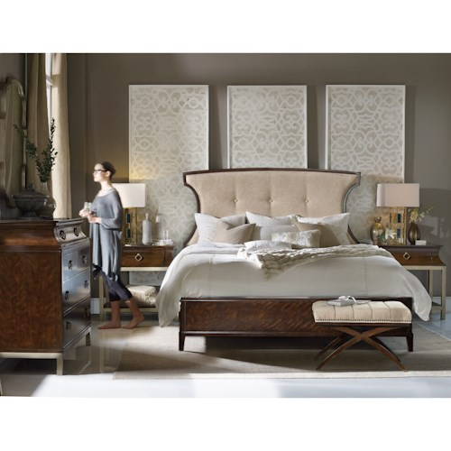 Hooker Furniture Skyline Queen Bedroom Group