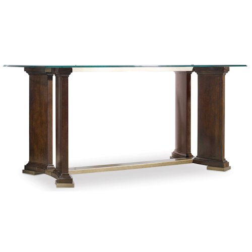 Hooker Furniture Skyline Writing Desk with Glass Top