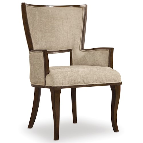 Hooker Furniture Skyline Upholstered Arm Chair with Cabriole Legs