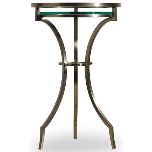 Hooker Furniture Skyline Martini Table with Glass Top