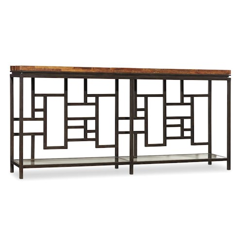 Hooker Furniture Socorro Console Table with Tempered Glass Shelf