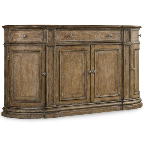Hooker Furniture Solana 4 Door Buffet with Wine Storage