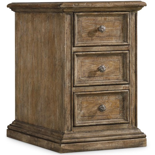 Hooker Furniture Solana 3 Drawer Chairside Chest