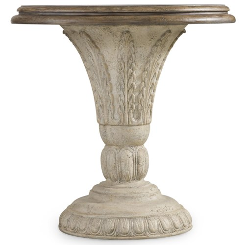Hooker Furniture Solana Round Accent Table with Fauna Decorated Pedestal