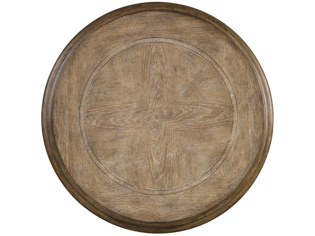 Table Top Features Decorative Wood Inlay Design