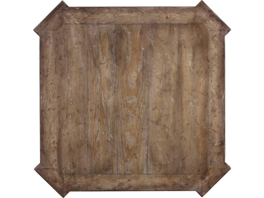 Planked Top with Physical Distressing and Squared Corners