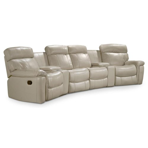 Hooker Furniture SS620 Motion Six Piece Home Theater Group with 2 Consoles