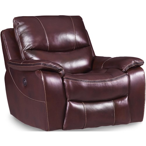 Hooker Furniture SS624 Power Glider Recliner with Pillow Arms