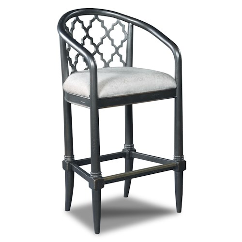 Hooker Furniture Stools Dark Cosmopolitan Geometric Transitional Barstool