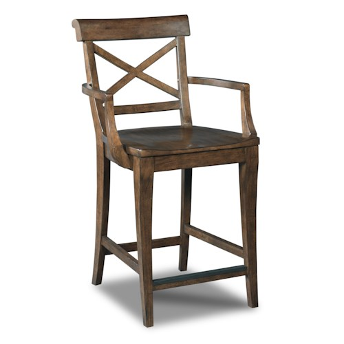 Hamilton Home Stools Medium Rob Roy - X-Back Counter Stool