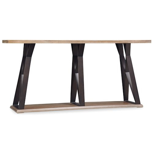 Hooker Furniture Studio 7H Crisscross Sofa Table with Metal Base
