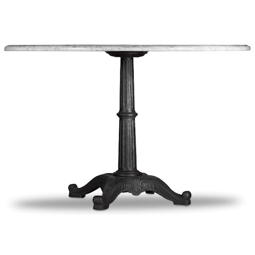 Hooker Furniture Studio 7H Round Pedestal Table with Marble Top