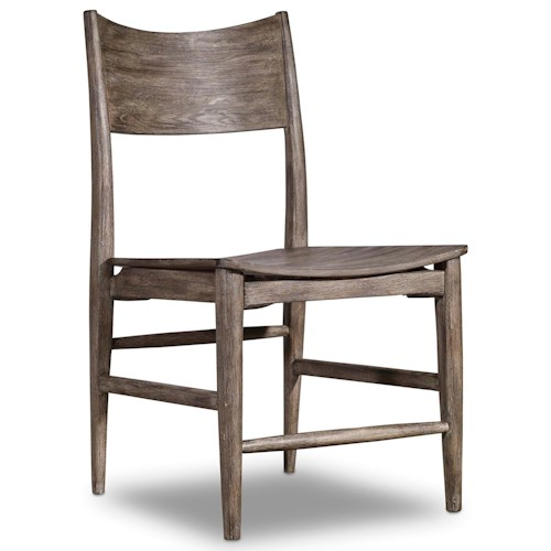 Hooker Furniture Studio 7H Side Chair with Curved Wood Seat