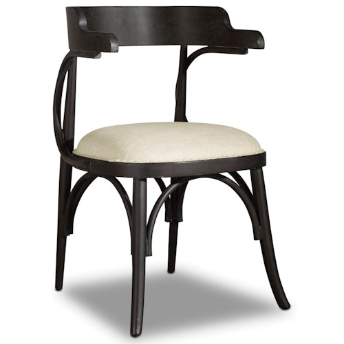 Hooker Furniture Studio 7H Bow Back Chair with Upholstered Seat